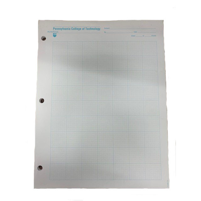 Image For 8 Square/Inch Penn College Graph Paper