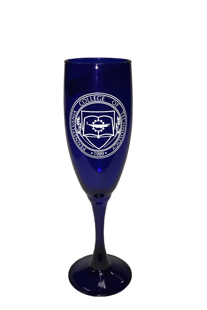 Cover Image For Penn College Champagne Glass. CLEARANCE!