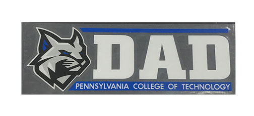 Image For ColorShock Penn College Proud Dad Window Decal