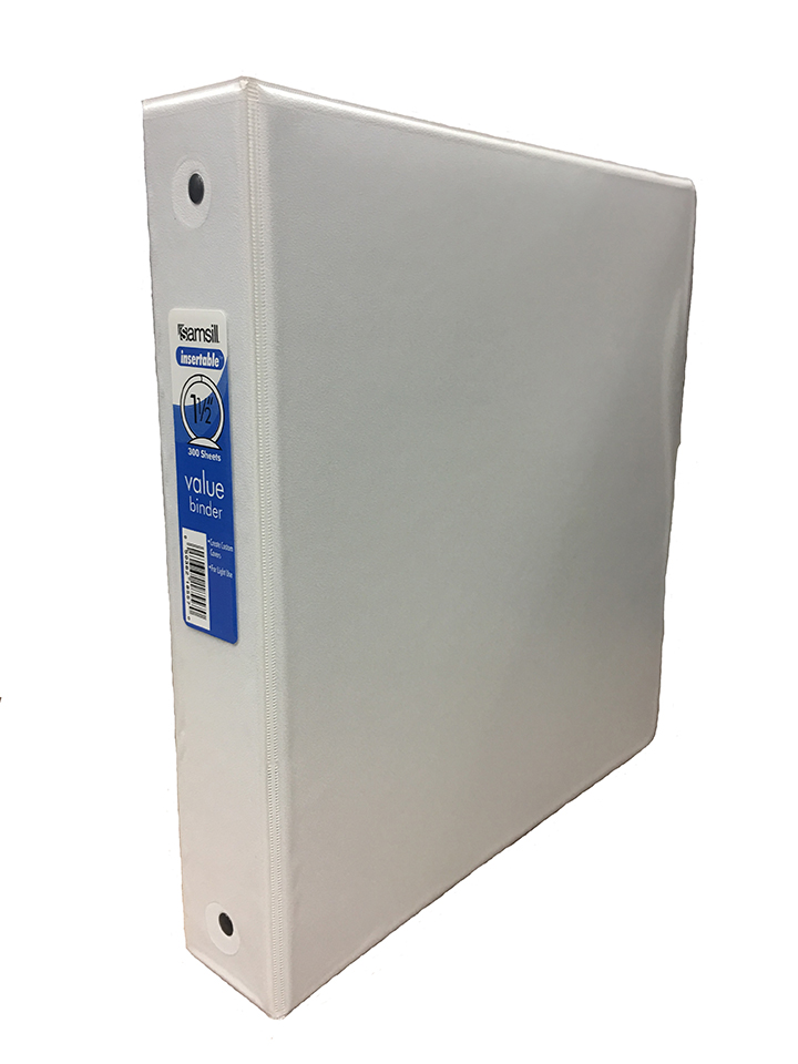 "Image For 1 1/2"" White Binder"