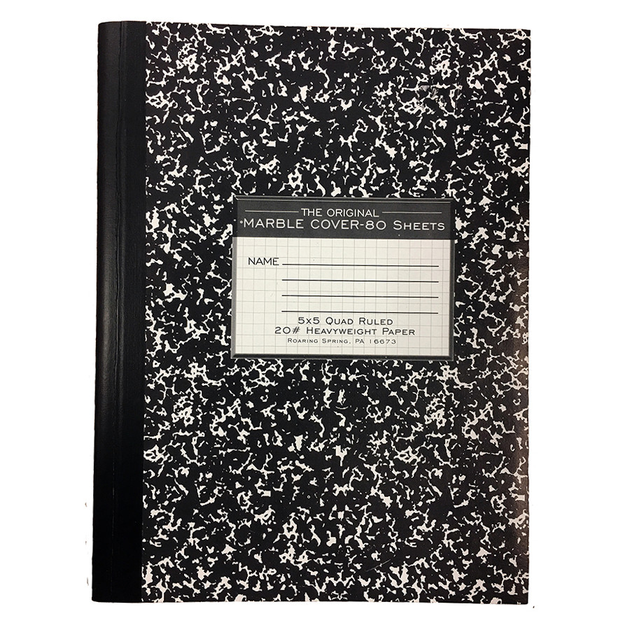 Image For 5x5 Quad Ruled Marble Notebook