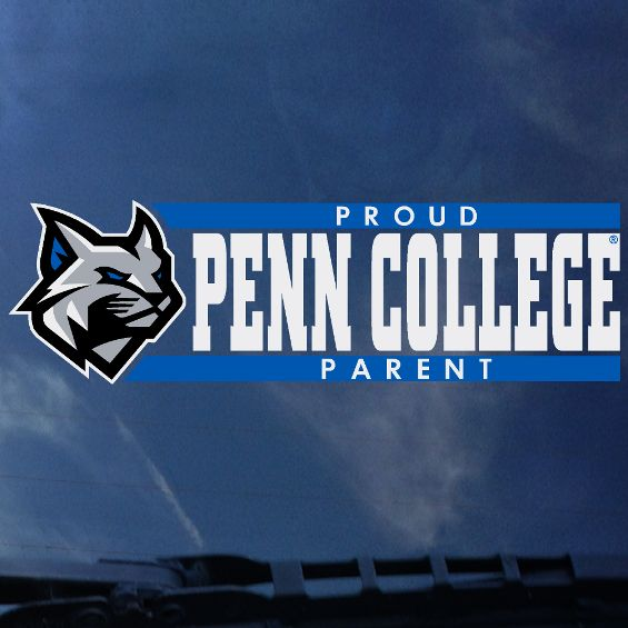 Image For ColorShock Penn College Proud Parent Window Decal