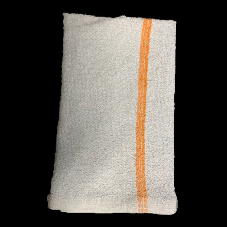 Image For Bar Towel w/ Gold Stripe