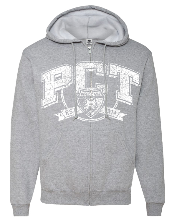 Image For PCT Full Zip Grey Hoodie