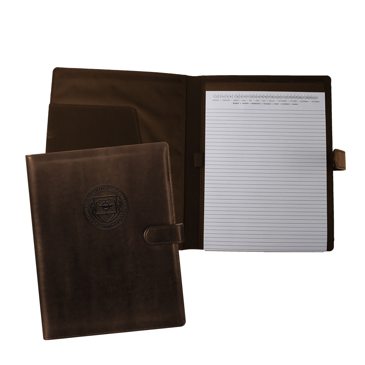 Cover Image For Brown Portfolio with Magnetic Clasp