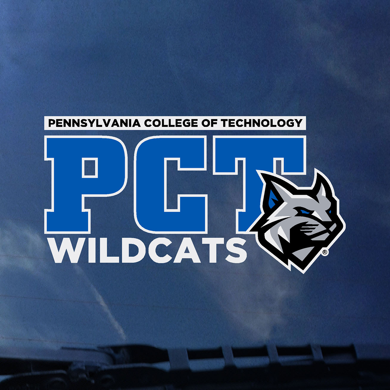 Cover Image For PCT Wildcats Pennsylvania College of Technology Decal