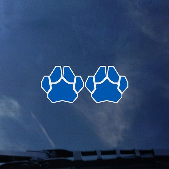 Cover Image For Small Paw Print Decals 2 Pack