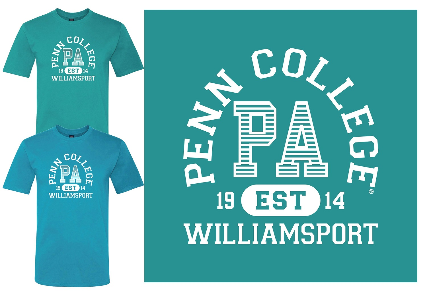 Image For PCT Williamsport PA Tees in Jade or Pacific Blue