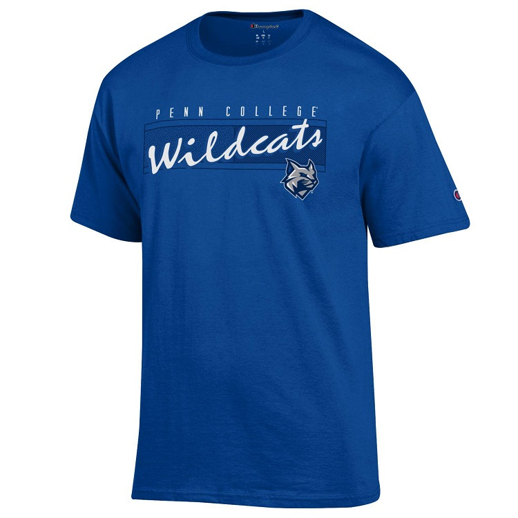 Image For Champion Royal Wildcat Tee Shirt