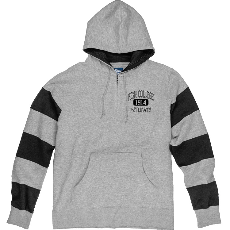 Image For Rugby Hoodie Gray with Black Stripes