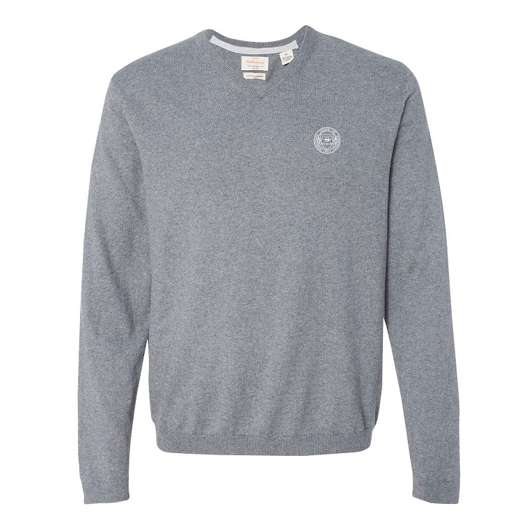 Image For V-Neck Men's Cotton Cashmere Sweater