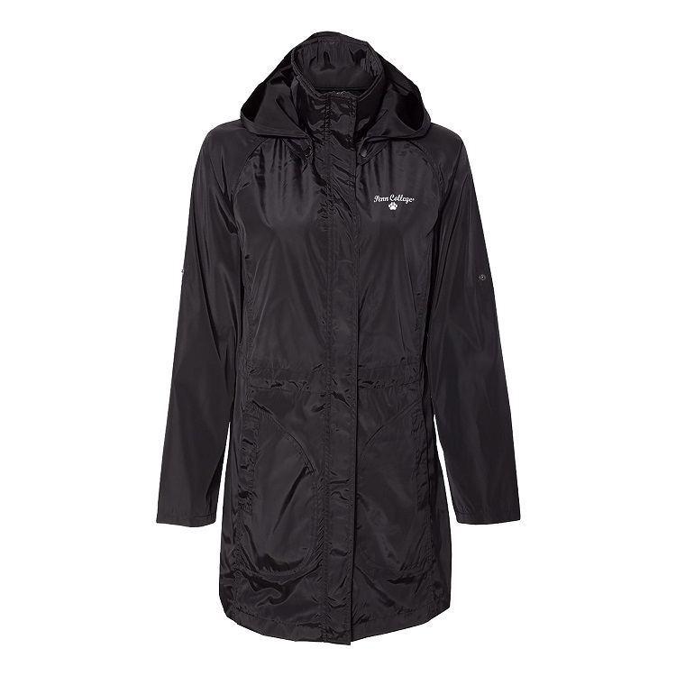 Cover Image For Women's Long Black Rain Jacket