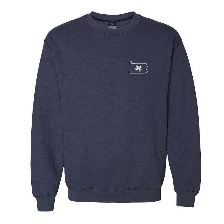 Image For Crew Sweatshirt with State and Wildcat